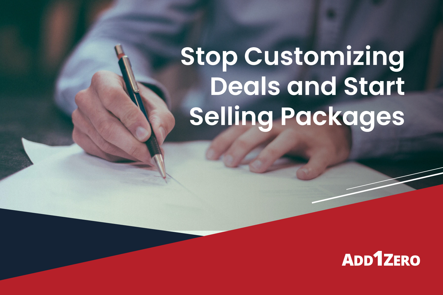 Stop Customizing Deals and Start Selling Packages