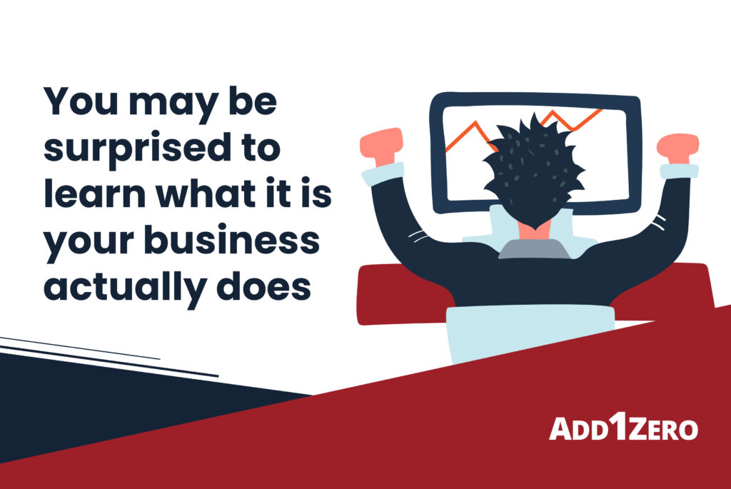 You may be surprised to learn what it is your business actually does